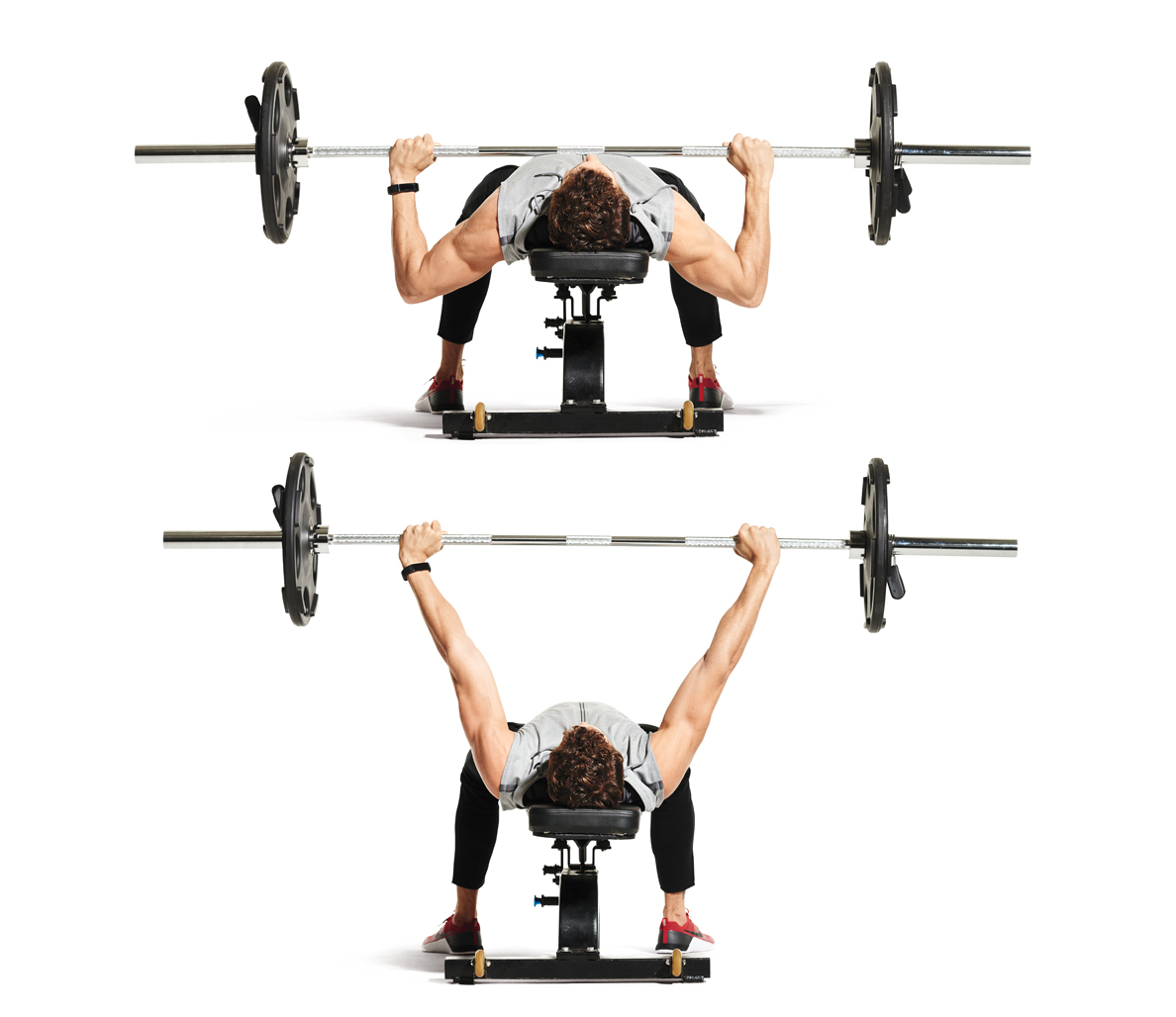 Barbell Flat Chest Press And Incline Fly Superset