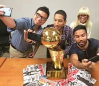 On Tour With the NBA Championship Trophy