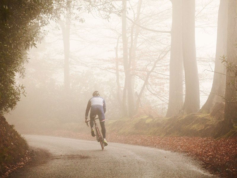 Biking in Fog