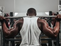 Black Man Weightlifting
