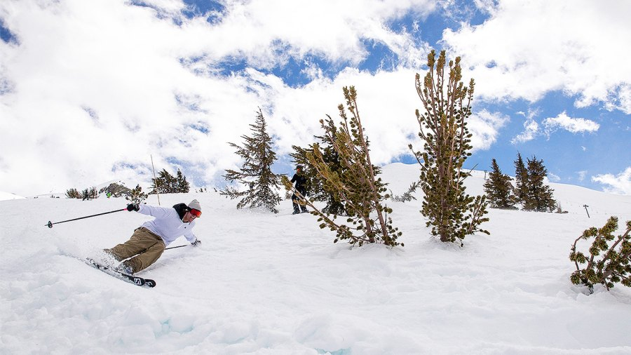 Pro Freestyle Skier Bobby Brown Completes A Run At Mammoth Mountain In One Take