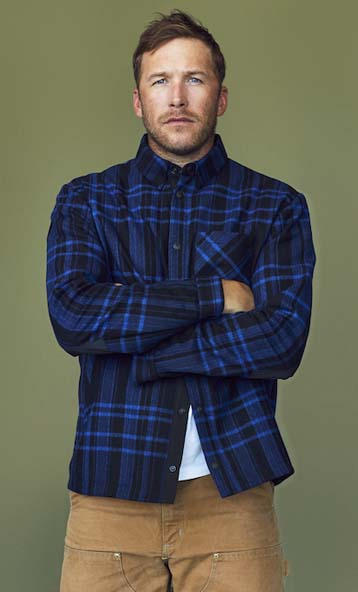 Olympic skier Bode Miller in his Aztech Mountain gear. Photo courtesy Bruno Staub.