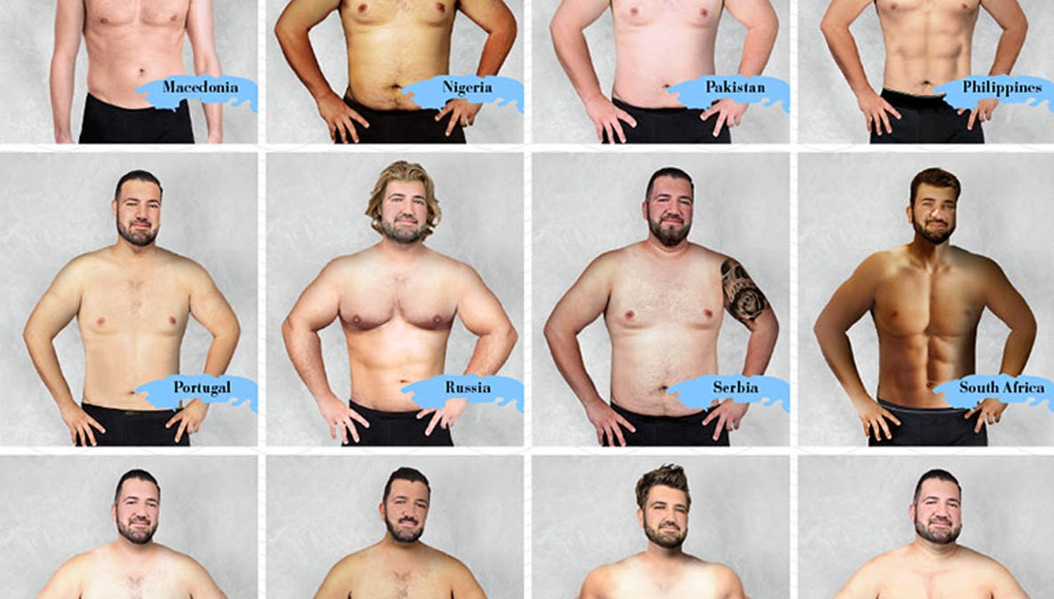 Here's What the 'ideal Male Body' Looks Like in 19 Countries Around the  World