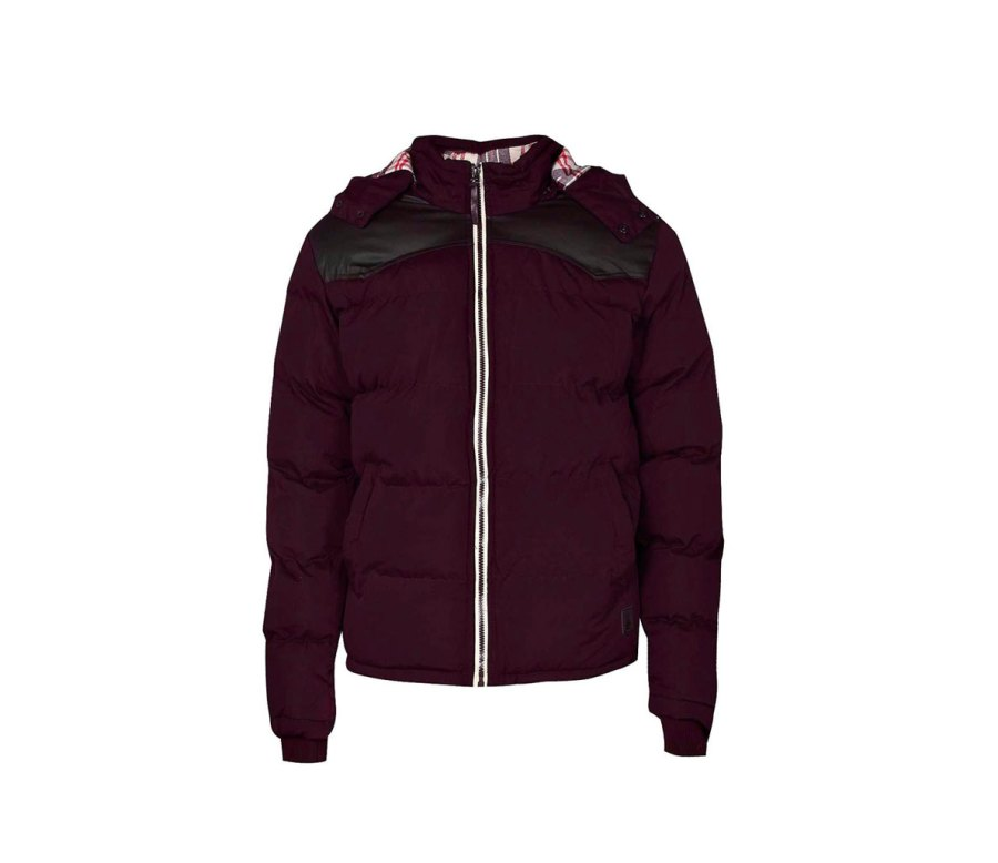 Pu Pannel Padded Jacket