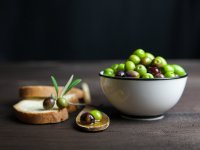 Bowl of Green Olives