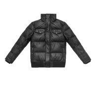 Stampd Leather Puff Jacket