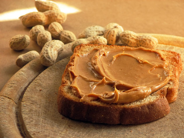 Post-exercise snack: peanut butter