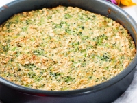 Broccoli-Cheddar Oatmeal Bake