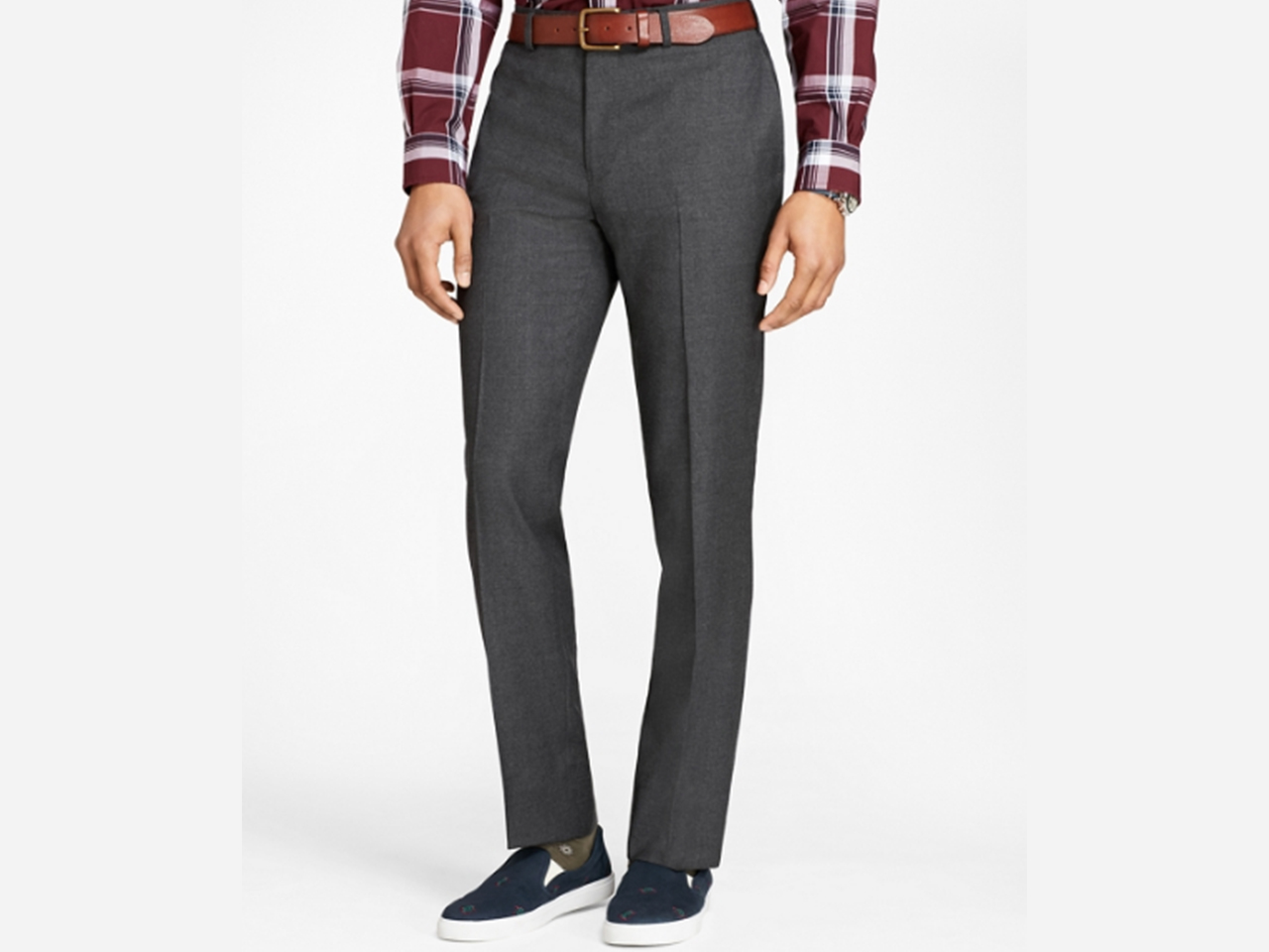 Wool Flannel Trousers by Brooks Brothers