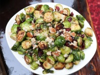 Caramelized Brussels Sprouts with Bread Crumbs