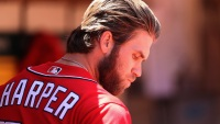 Bryce Harper #34 of the Washington Nationals