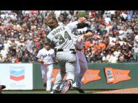 Bryce Harper, Hunter Strickland, Giants, Nationals fight