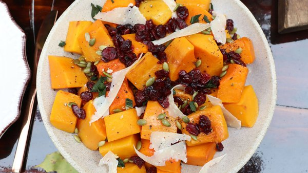 Butternut squash with cranberries and sage