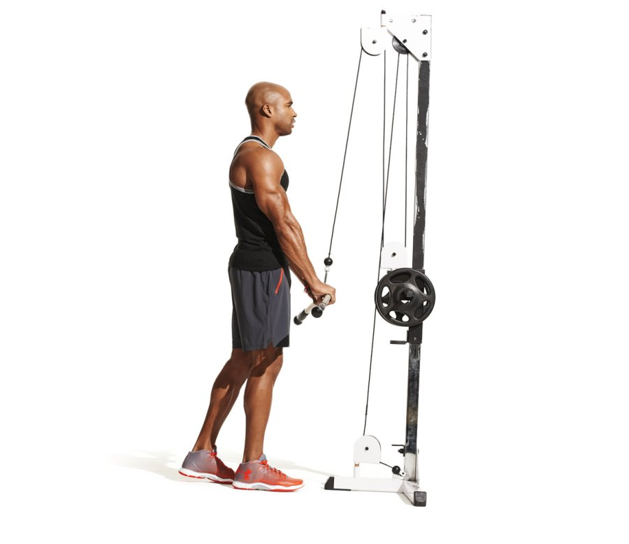 4. Tricep cable pulldown