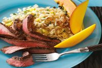 Sponsored Content: Carribean Flank Steak With Coconut Rice