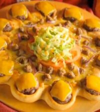 Pizza Hut Releases Cheeseburger-Ringed Pizza