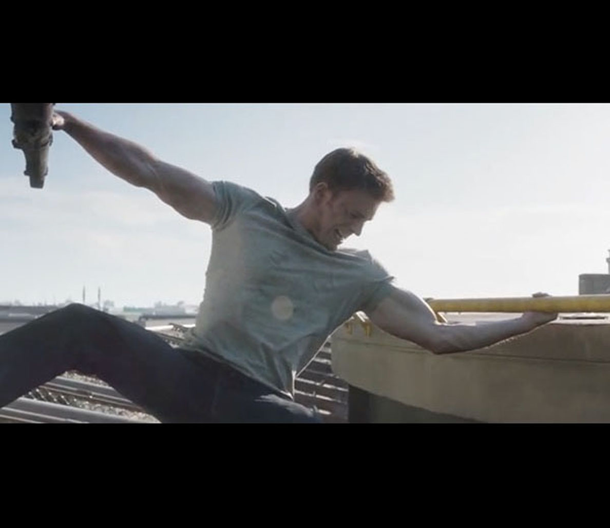 watch captain america take down a helicopter with his huge biceps in  u0026 39 captain america  civil war u0026 39