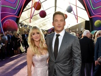Actors Chris Pratt And Anna Faris Arrive At The Premiere Of Disney And Marvel's 'Guardians Of The Galaxy Vol. 2' At Dolby Theatre On April 19, 2017 In Hollywood, California.