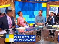 Chris Pratt Appears On 'Good Morning America' To Promote 'Guardians Of The Galaxy Vol. 2'