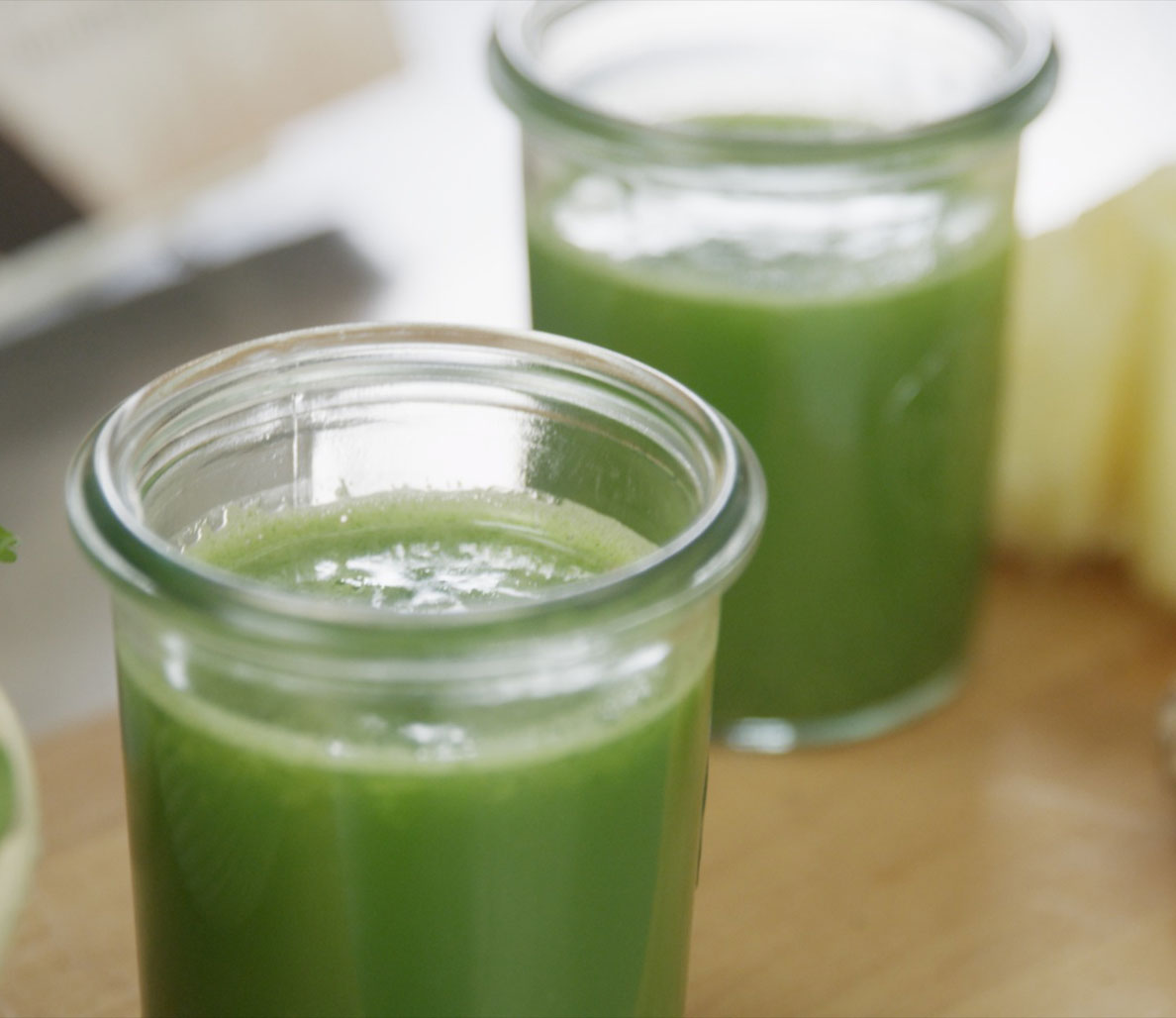 Spicy Ginger and Pineapple Green Drink Recipe