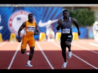 Christian Coleman and Justin Gatlin, US Olympic trials