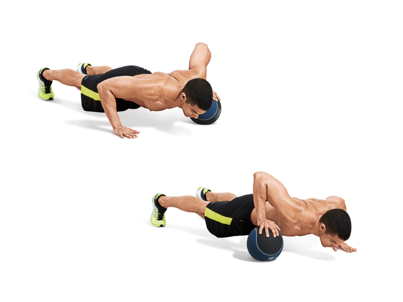 Crossover Pushup