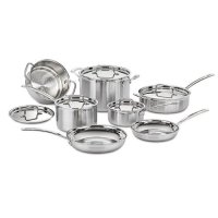 Cuisinart Multiclad Pro Tri-Ply Stainless Steel 12-Piece Cookware Set