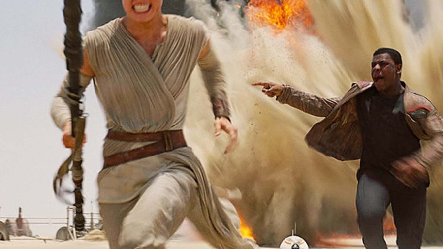 Daisy Ridley as Rey in Star Wars Episode VII: The Force Awakens