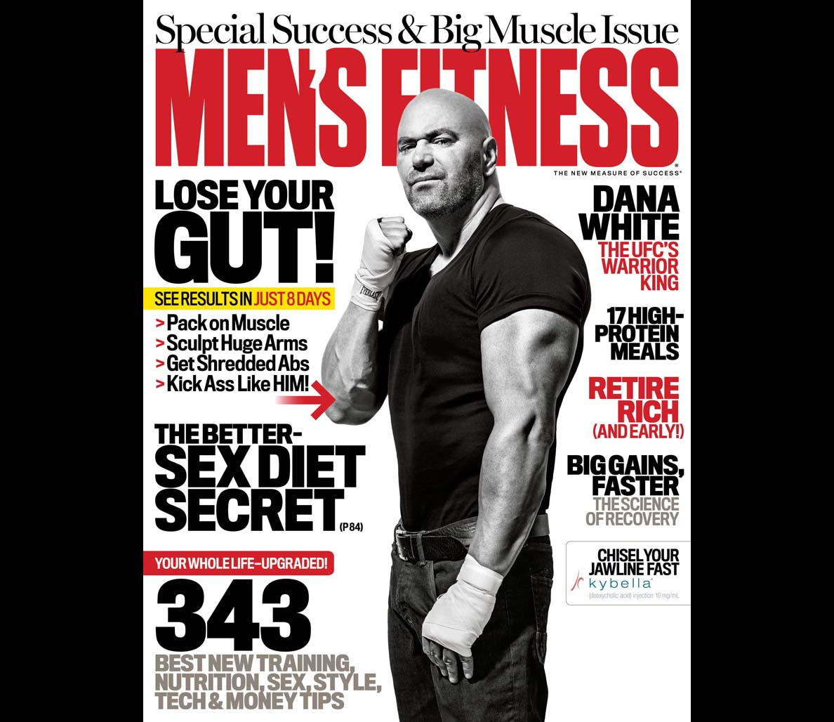 Dana White in Men's Fitness Magazine. Photographed by Per Bernal.