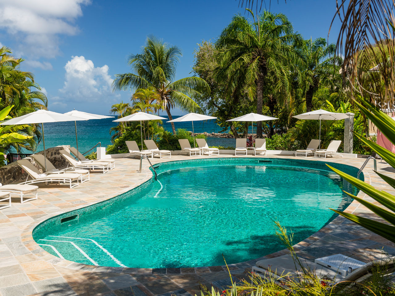 Pool at BodyHoliday resort in St. Lucia