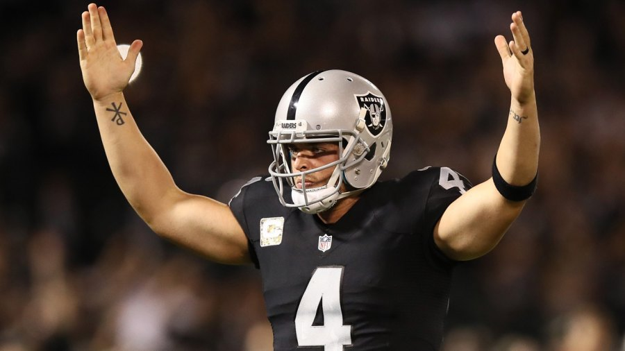 Watch: NFL Star Derek Carr Trolls His Trainer With Arm Workouts on Leg Day