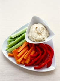 4. Vegetables and hummus