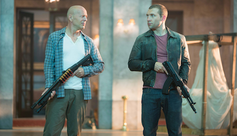 "Bruce Willis and Jai Courtney on the Newest Die Hard Film, ""A Good Day to Die Hard"""