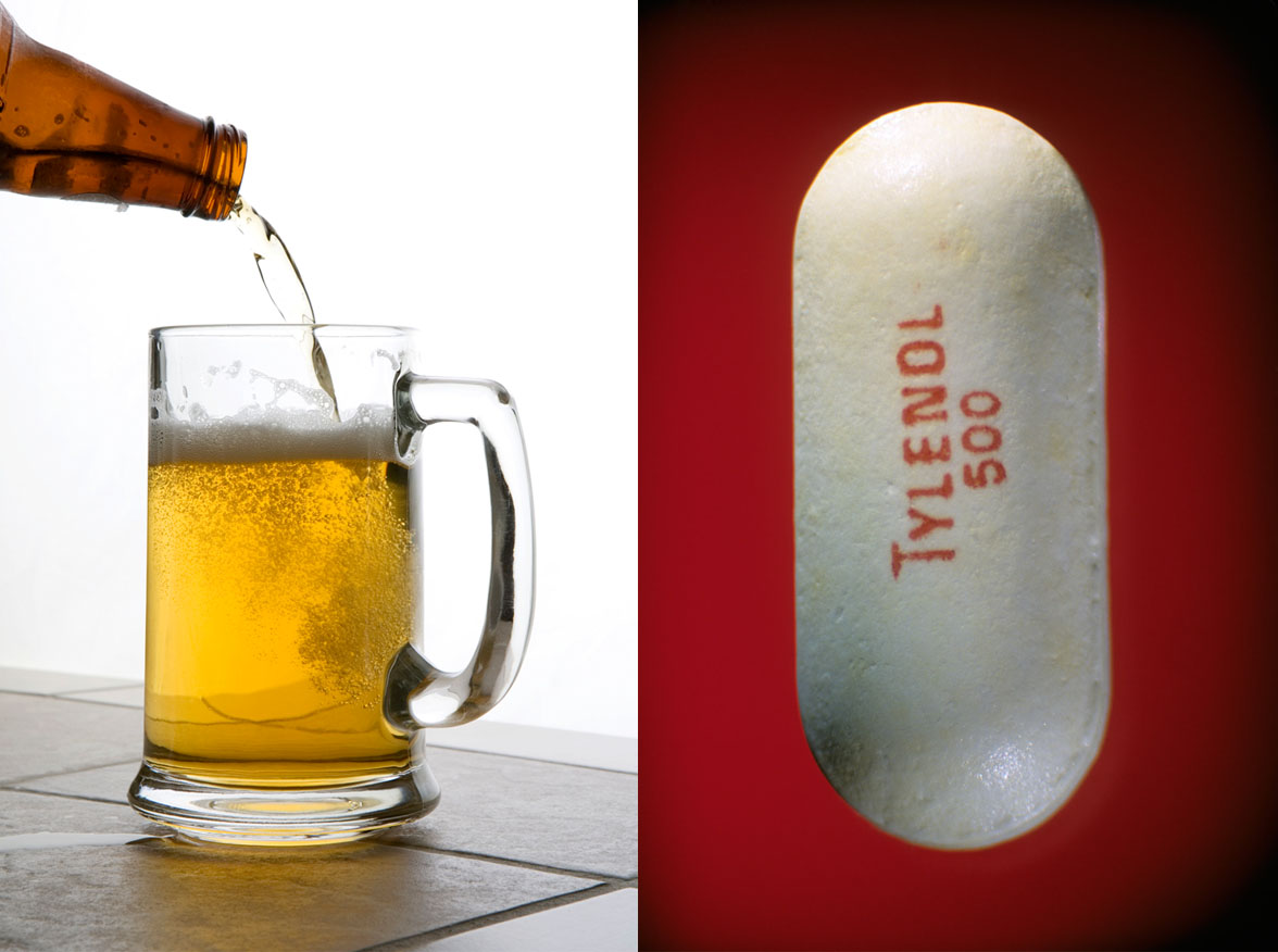 Don't Combine Tylenol and Alcohol