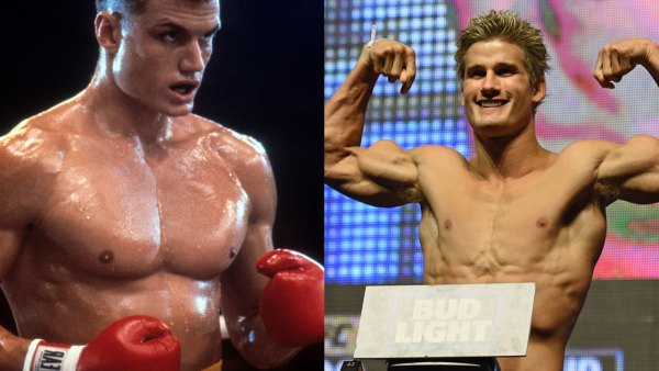 UFC Fighter Sage Northcutt and Dolph Lundgren in Rocky IV