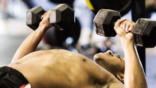 Weight loss workouts: Dumbbell Bench Press