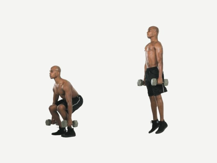 Exercise: How to Do a Dumbbell Jump Squat