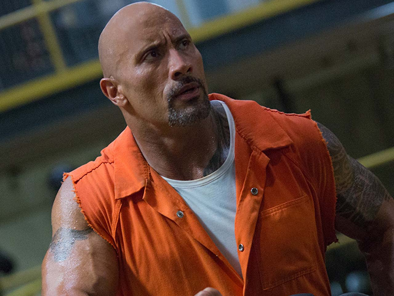Dwayne Johnson stars as Luke Hobbs in 'The Fate of the Furious'