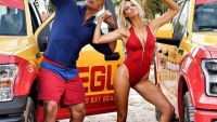 "Dwayne ""The Rock"" Johnson and Kelly Rohrbach on the 'Baywatch' set"