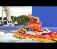 Dwayne The Rock Johnson Baywatch Jet Ski / Instagram @therock