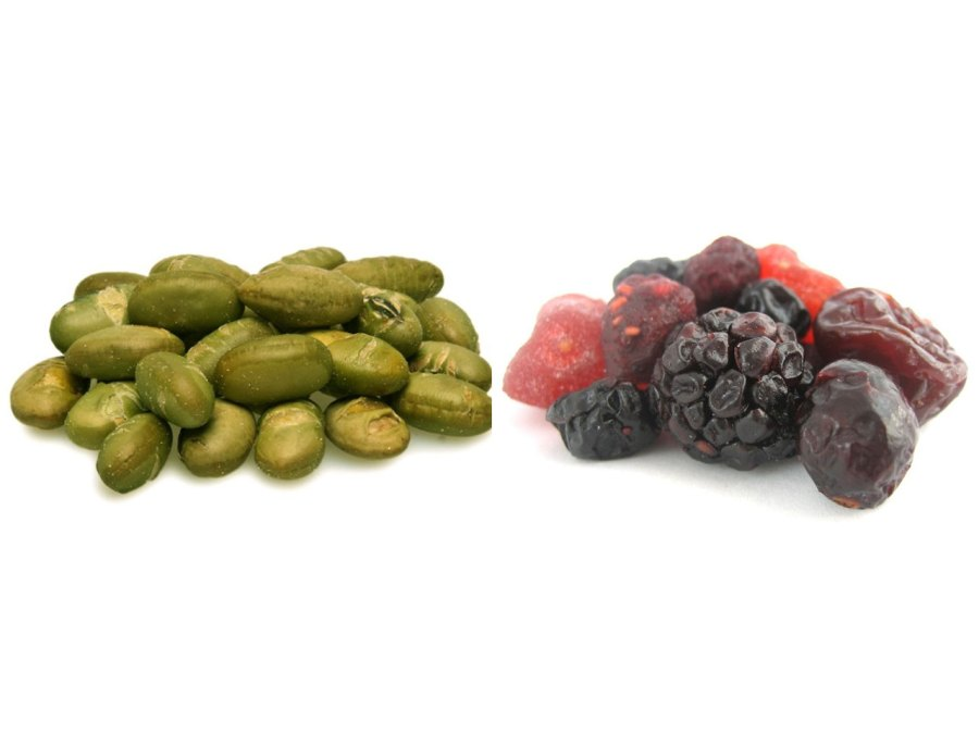 Nuts.com dry roasted edamame and dried berries