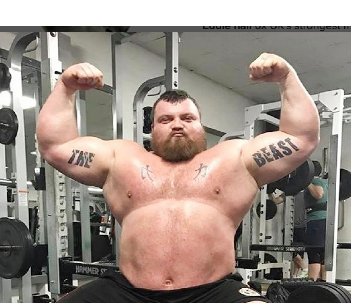 pics Eddie Hall as you've never seen him before