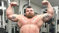 Watch: Eddie Hall throws boxer across the ring