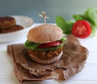 2. Farro and White Bean Veggie Burgers