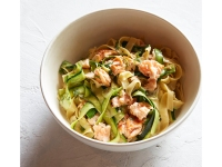 Fettuccini With Salmon, Dill, And Zucchinni Ribbons