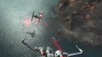 """A Rebel pilot takes down a TIE fighter in """"Star Wars: The Force Awakens"""""""