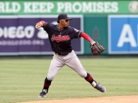 Francisco Lindor #12 of the Cleveland Indians