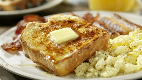 French Toast and Eggs Breakfast