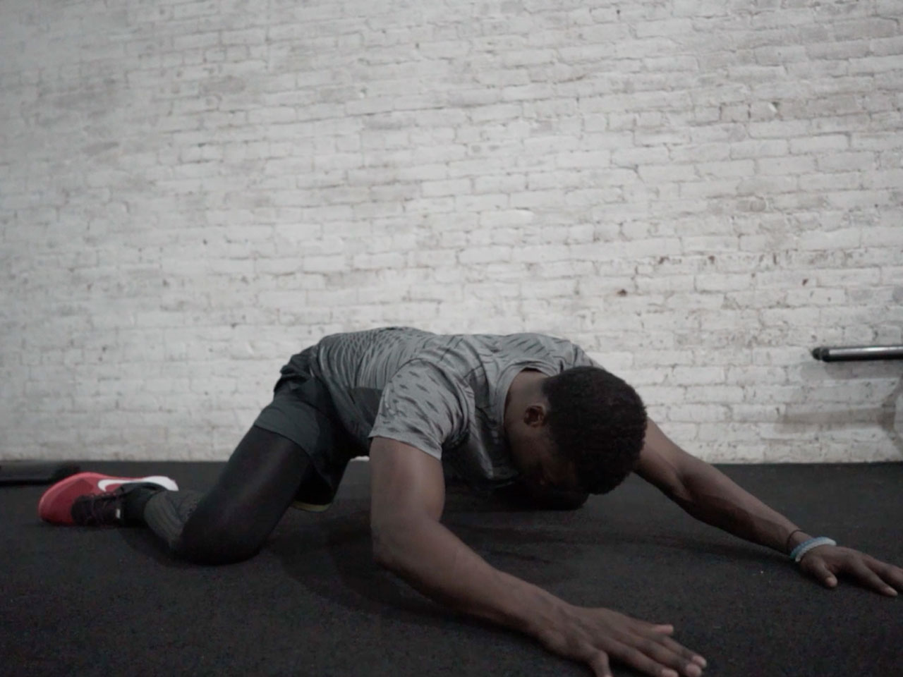 """Groin """"frog"""" stretch to open hips"""