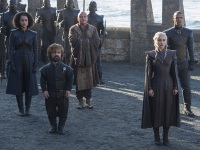 Nathalie Emmanuel, Peter Dinklage, Conleth Hill, Emilia Clarke, And Jacob Anderson In Game Of Thrones Season 7